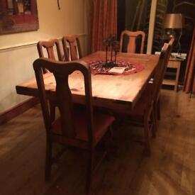 Mexican Pine Dining Table 1000x1960mm