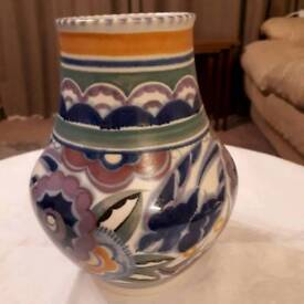 Poole pottery vase. Bluebird design