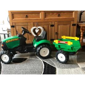 Child's tractor and trailer