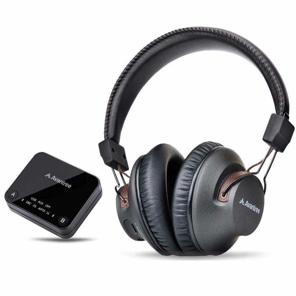 Bluetooth Wireless Headphones Set for TV PC Transmitter Opti