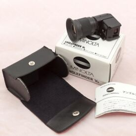 Minolta Right Angle Finder Vn Viewfinder 1 2x Magnification With Case Original Box