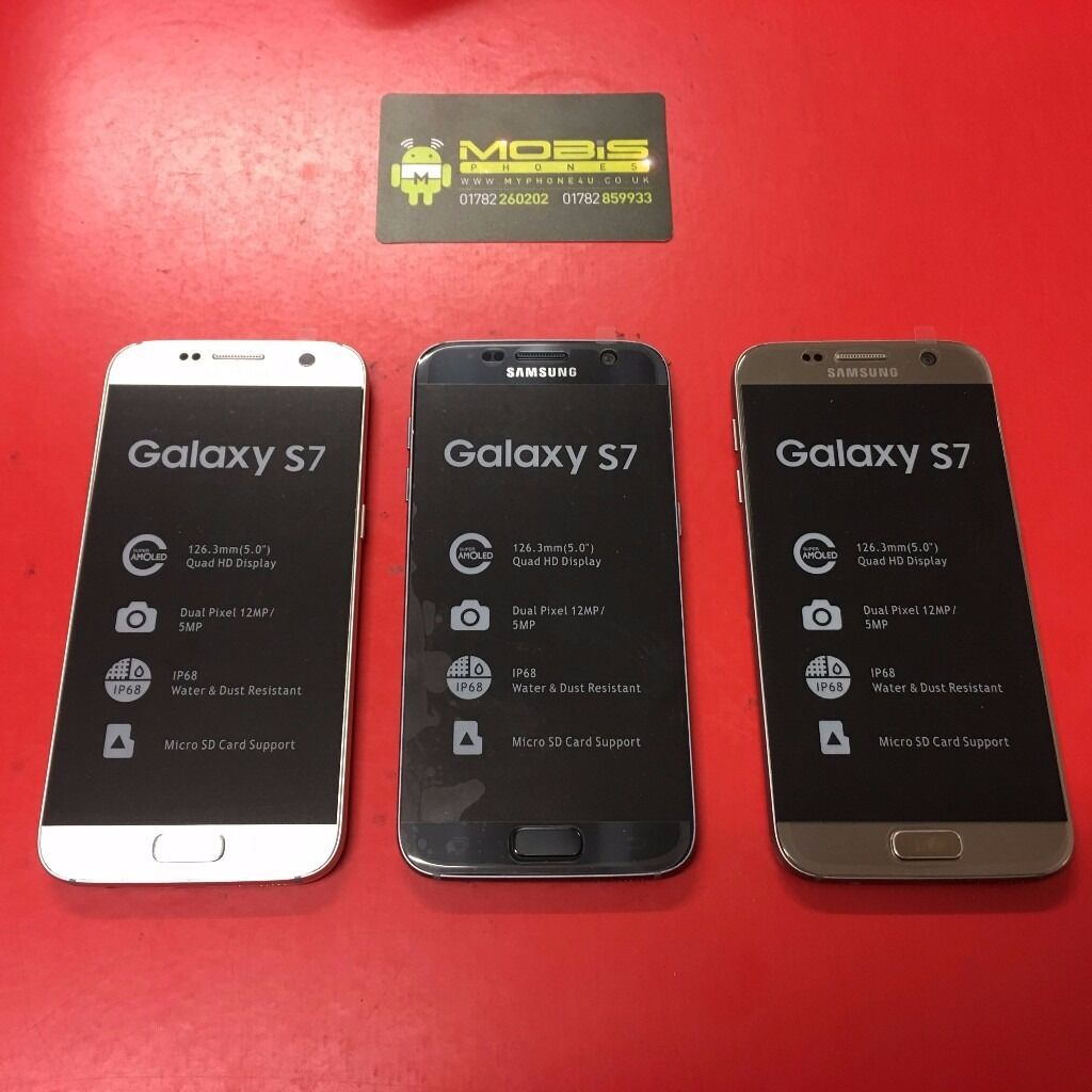 SAMSUNG GALAXY S7 SIM FREEin Stoke on Trent, StaffordshireGumtree - SAMSUNG GALAXY S7 SIM FREE COMES WITH CHARGER AND THREE MONTHS WARRANTY FREE DELIVERY LOCALLY