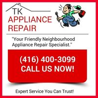 CHEAP APPLIANCE REPAIR! Licensed & Insured (416) 400-3099