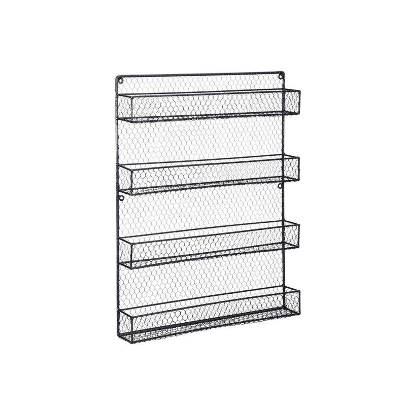 Spice Rack 4 Tier Countertop Kitchen Organizer Storage Wall