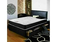 🔵💖🔴CASH ON DELIVERY 🔵💖🔴SINGLE , DOUBLE, KING SIZE DIVAN BED BASE WITH SPRUNG MATTRESSES