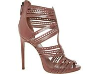 NEW Authentic ALAIA pink perforated strap stiletto heels RRP £915