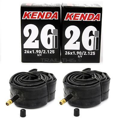"""2-Pack Kenda 26x1.90/1.95/2.10/2.125 Schrader Valve MTB Bike Inner Tubes SV 26"""""""