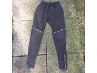 Zara khaki zipped joggers size small
