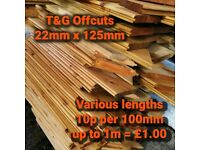 T&G Cladding Offcuts up to 1.04m long