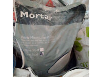 5 bags natural lime plaster ready mixed, natural lime coarse mortar stuff
