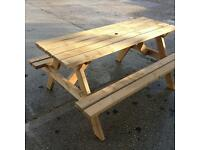 6 Seater heavy duty screwed and bolted tanalised picnic bench