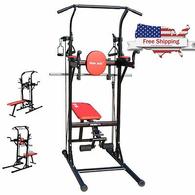 New Multi Function Pull Up Dip Station VKR Sturdy Power Tower Adjustable Gym