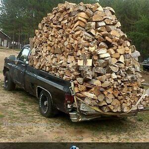 Campfire firewood 90lb bags split spruce/pine mix