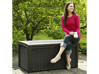 New Keter Borneo Outdoor Plastic Storage Box Garden Furniture - Delivered fully built to your door!