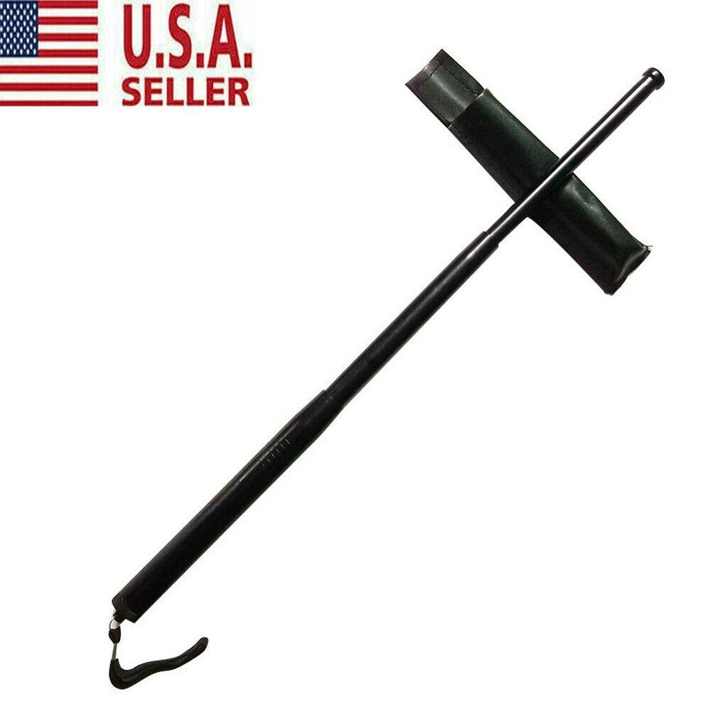 3 Sections Telescopic Pole Portable Retractable Outdoor Whip Self-defense Tool