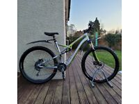 "Specialized Camber 29er M5 FSR full suspension mountain bike 21"" XL frame 29"" wheels paperwork"