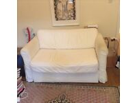 Clean White Sofa w/ pull-out bed in near new-condition