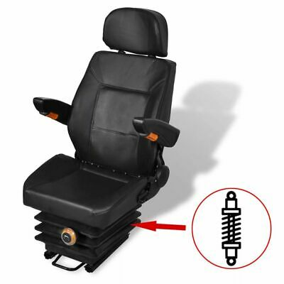 Adjustable Tractor Seat W Suspension Headrest Foldable Armrest For Mower Digger