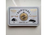 new Survival Kit compass saw paracord flint striker camping-tool tweezers camping hiking set