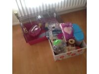 Hamster Cage with Toys,Bedding and Food