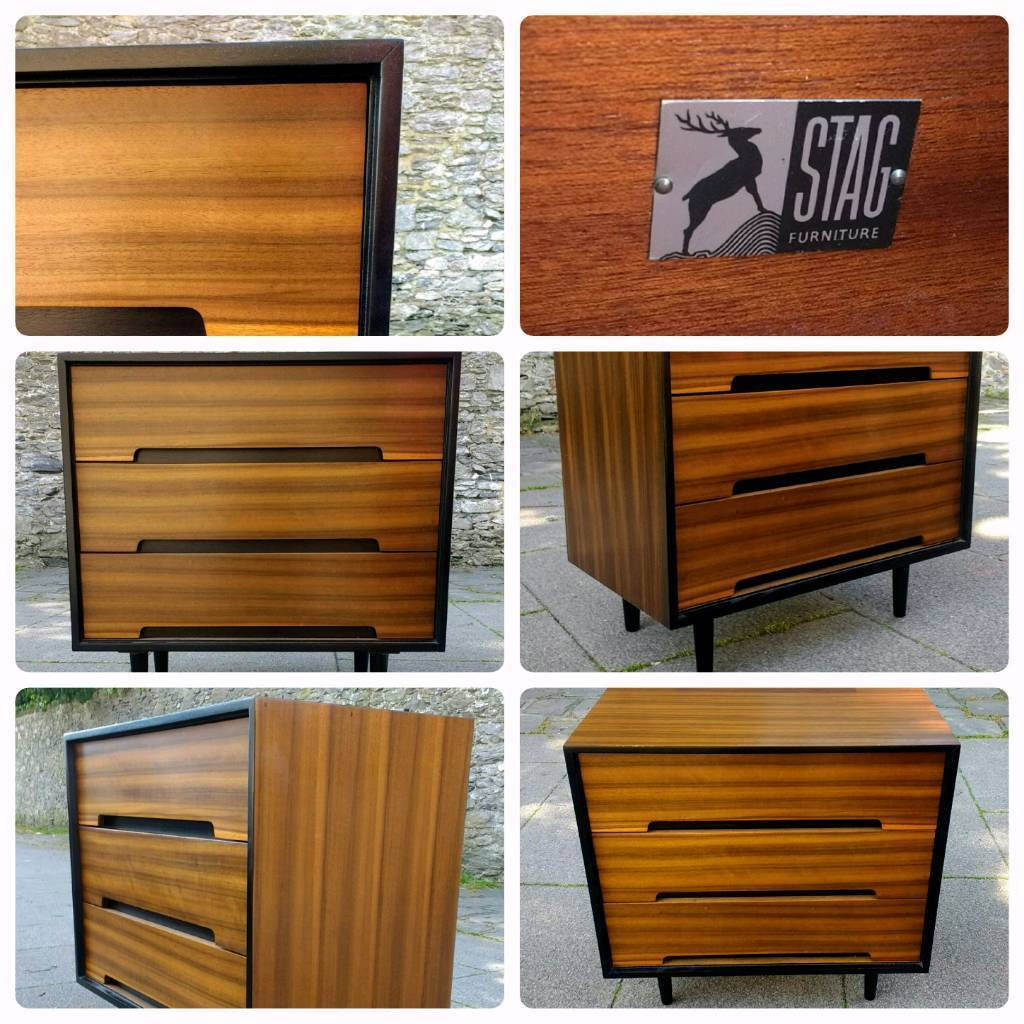 STAG C Range Chest Of Drawers / Sideboard Vintage Retro Mid Century - Delivery Available