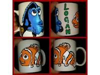 Personalised Hand Painted Mugs