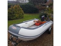 3.8m rib with 18hp outboard