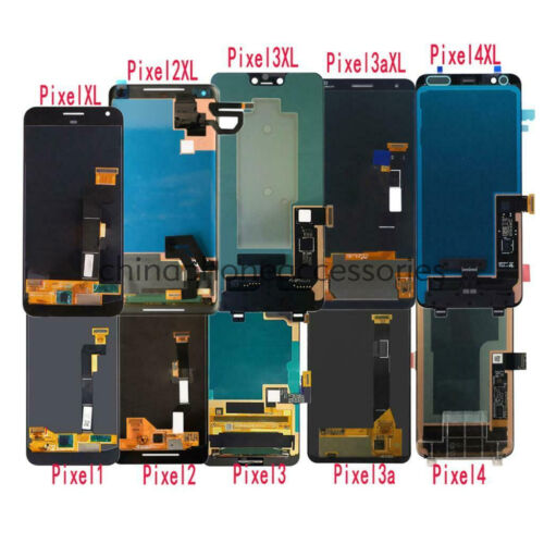 FIT LCD Touch Screen Digitizer Replace For Google Pixel S1 2 XL 3 XL 3a XL 4 XL