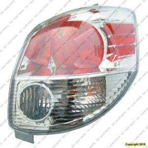 Tail Light Passenger Side Toyota Matrix 2005-2008