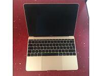 "Gold MacBook 12"" Retina, 1.1GHz, 256GB, Early 2015 8GB Ram"