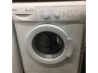 6kg 1400 spin Beko washing machine