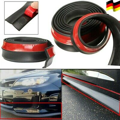 2.5m Auto Spoiler Lippe Seiten Schweller Carbon Front Stoßfänger Lip Universal