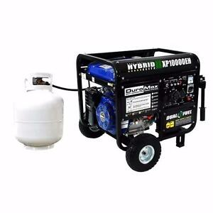 NEW DUAL FUEL HYBRID ELITE ELECTRIC GAS GENERATOR GASOLINE 18 HP 10 KW PORTABLE PROPANE