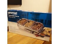 Food Warmer, Triple Buffet Server (Gourmet) & Warming Tray