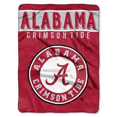 Alabama Crimson Tide Plush Throw - Alabama Crimson Tide 60x80 Plush Raschel Throw Blanket - Basic Design [NEW]