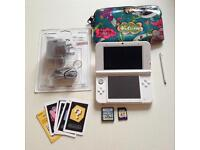 Nintendo 3DS XL Pearl white console PERFECT CONDITION!!! *FREE P&P*