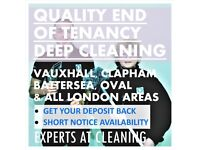 24/7 Short Notice End of Tenancy Deep Cleaning In Vauxhall, Clapham, Battersea & All London Areas