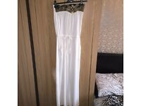 Brand new with tags, white jumpsuit
