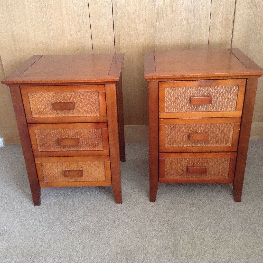 Pair of Solid Wood Chest of Drawers