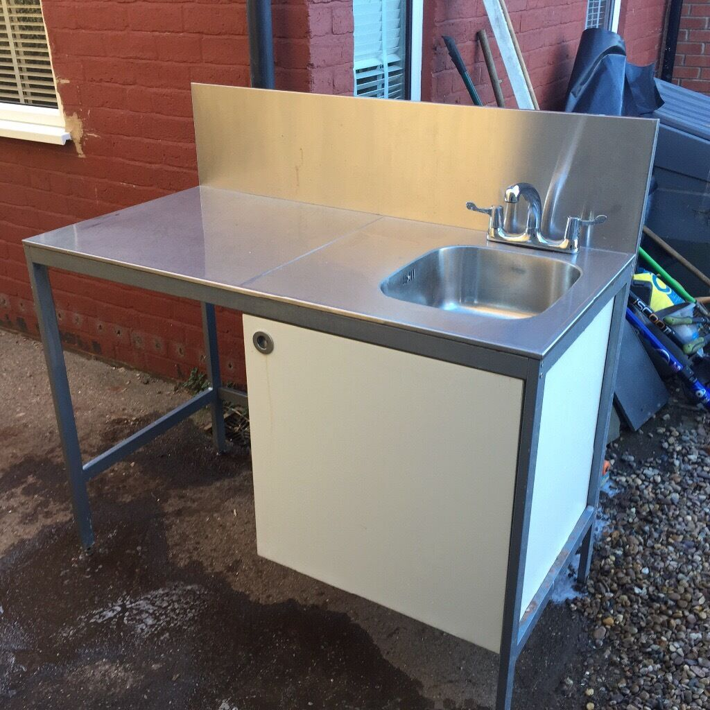 Udden Ikea Freestanding Stainless Steel Sink Unit In