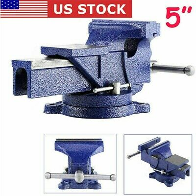 Heavy Duty 5 Mechanic Bench Vise Table Clamp Press Locking Swivel Base New