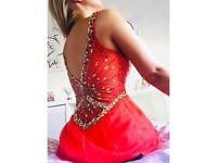 Dress - coral with beaded design