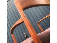 5 1950s teak dining chairs