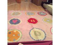 Ikea pink rug/ carpet