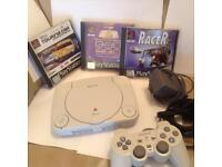 Original Sony PS1 Playstation one games console bundle