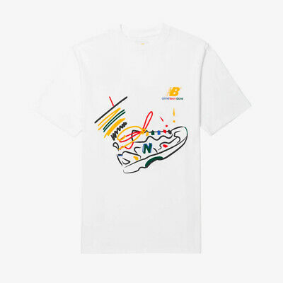 Aimé Leon Dore ALD New Balance 827 Graphic Tee - White - Size L - SHIPS TODAY!