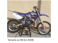 Yz85 motocross bike with single trailer