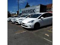 PCO cars to rent or hire Auris and Prius