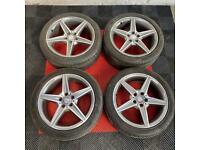 18' Genuine Mercedes Benz Alloys + Tyres 5x112