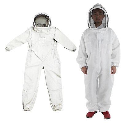 1pc Beekeeper Full Body Protective Suit Bee Keeping Veil Hood Jacket Sizel